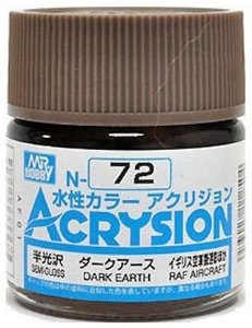 Gunze - Acrysion Color 072 - Dark Earth (Semi-Gloss)