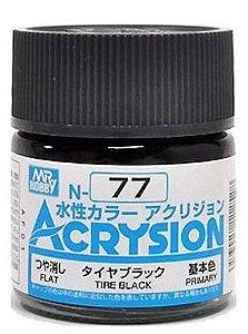 Gunze - Acrysion Color 077 - Tire Black (Flat)