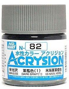 Gunze - Acrysion Color 082 - Dark Gray (1) (Flat)