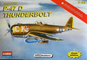 HTC ACADEMY - P-47D THUNDERBOLT - 1/48 (SEM DECAL)