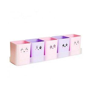 KIT Doçura com 5 Portas Objetos + 1 Cartela de Adesivos