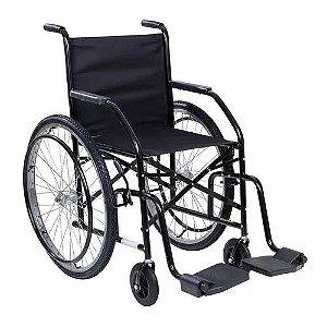 Cadeira de Rodas CDS 101 Roda Raiada Preta