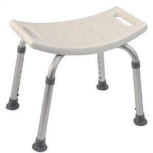 Banco Banqueta Para Banho Altura Regulável Aluminio Resistente e Assento Anatomico