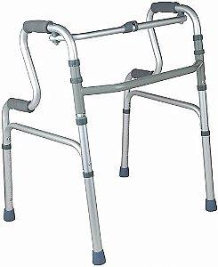 Andador Ortopédico Dobrável em Alumínio Dupla Empunhadura