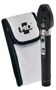 Oftalmoscópio 2.5 Omni 3000 Led Fibra Óptica Preto Com Estojo Md