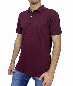 Camiseta Polo Sem Bolso Vinho