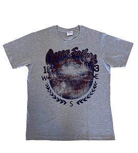 Camiseta Estampada Cinza Mescla