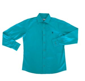 Camisa Lisa Azul Hortência