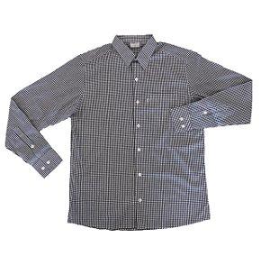 Camisa Xadrez Pequeno Preto/Branco