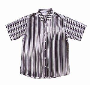 Camisa Listrada Vinho/Azul