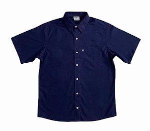 Camisa Lisa Azul Escuro