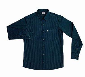 Camisa Listrada de Verde/Azul
