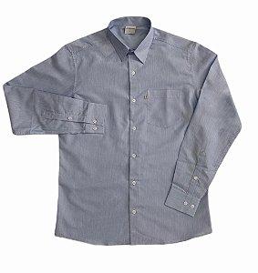 Camisa Listrada Azul/Branco