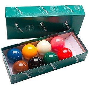 Bola de Sinuca Bilhar Snooker 8 Peças Premier 54 mm Profissional Belga Aramith
