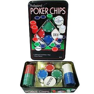 Jogo de Poker Professional Poker Chips - 100 fichas