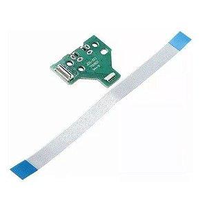 Pç PS4 Controle PCB USB com cabo JDS011