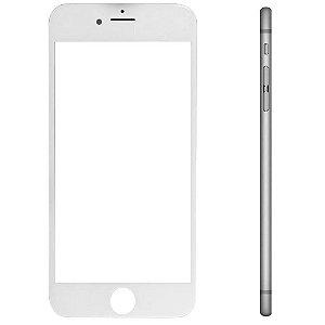 Pç Apple Vidro iPhone 6s Plus Branco com Aro