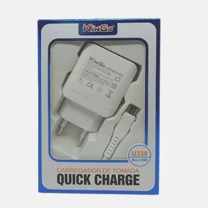 Fonte Celular Kingo U330 Quick Charge 3.0 + Cabo USB V8