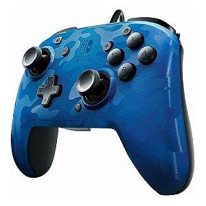 Controle Wired Camuflado Azul- Switch