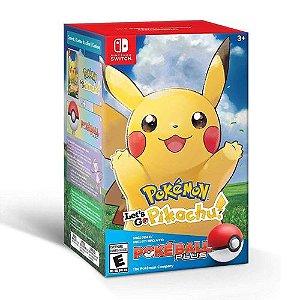 Jogo Pokémon Let`s Go Pikachu Bundle Pokéball Plus - Switch