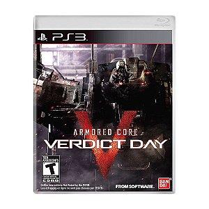 Jogo Armored Core Verdict Day - PS3