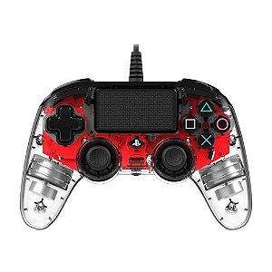 Controle Nacon Pro Controller Wired Illuminated Vermelho Com Fio - PS4