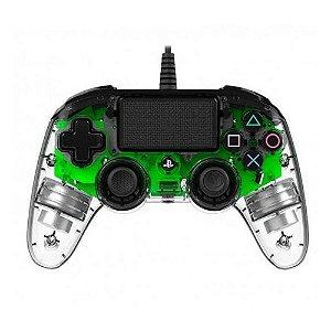 Controle Nacon Pro Controller Wired Illuminated Green Com Fio - PS4