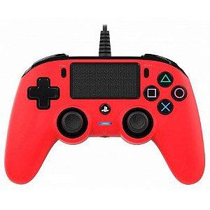 Controle Nacon Pro Controller Wired Vermelho Com Fio - PS4