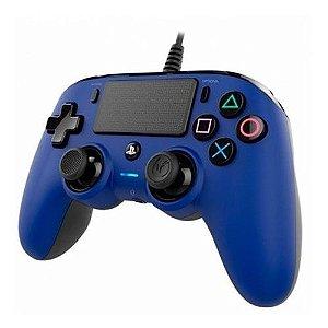 Controle Nacon Pro Controller Wired Azul Com Fio - PS4
