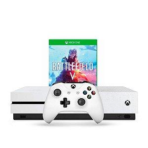 Console Xbox One S 1TB Branco + Battlefield V
