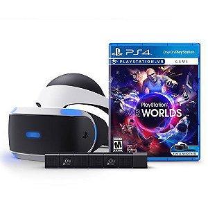 Oculos PlayStation VR + Câmera + Jogo VR Worlds CUH-ZVR1 - PS4