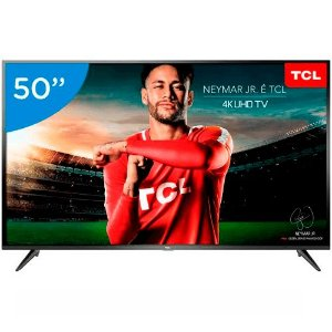 "Smart TV LED 50"" TCL 4K UHD Android Bluetooth"