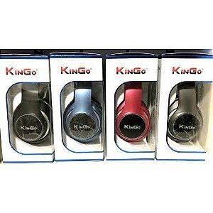 Fone de Ouvido Kingo KG-700 Bluetooth Preto