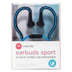 Fone de Ouvido Motorola Earbuds Sport SH008 Azul