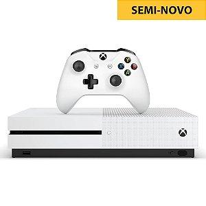 Console Xbox One S 1TB Branco + Kinect + Adaptador (Seminovo)