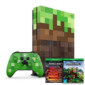 Console Xbox One S 1TB Edição Especial Minecraft