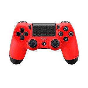 Controle DualShock 4 Vermelho - PS4