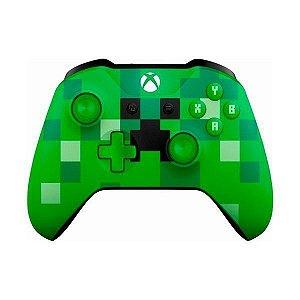 Controle Wireless Minecraft Creeper - Xbox One