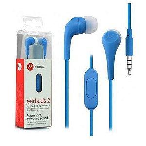 Fone de Ouvido Motorola Earbuds 2 Turquesa