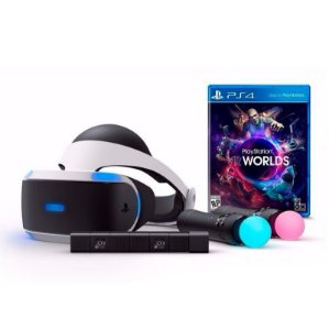 Oculos PlayStation VR + Câmera + 2 Controles Move + Jogo VR Worlds - PS4