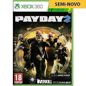 Jogo Payday 2 - Xbox 360 (Seminovo)