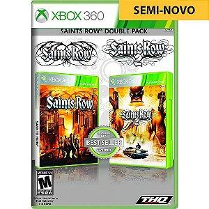 Jogo Saints Row Double Pack 1 e 2 - Xbox 360 (Seminovo)