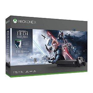 Console Xbox One X 1TB Preto + Jogo Star Wars Jedi Fallen Order