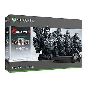 Console Xbox One X 1TB Preto + The Gears Collection