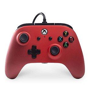 Controle Com Fio Power A Red - Xbox One