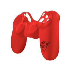 Capa Silicone Controle Trust GXT 744R Rubber Vermelho - PS4