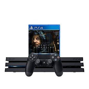 Console PS4 Pro 1TB Preto + Death Stranding