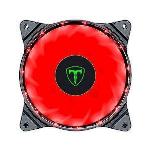 Cooler para Gabinete T-Dagger Solid T-TGF300 120x125mm LED Vermelho