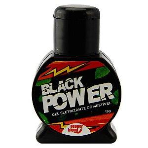 Gel Massageador Black Power Eletrizante Comestível 15g Pepper Blend