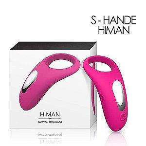 Anel Peniano Em Silicone Macio Com Vibrador interno Recarregável S-Hande -  Himan